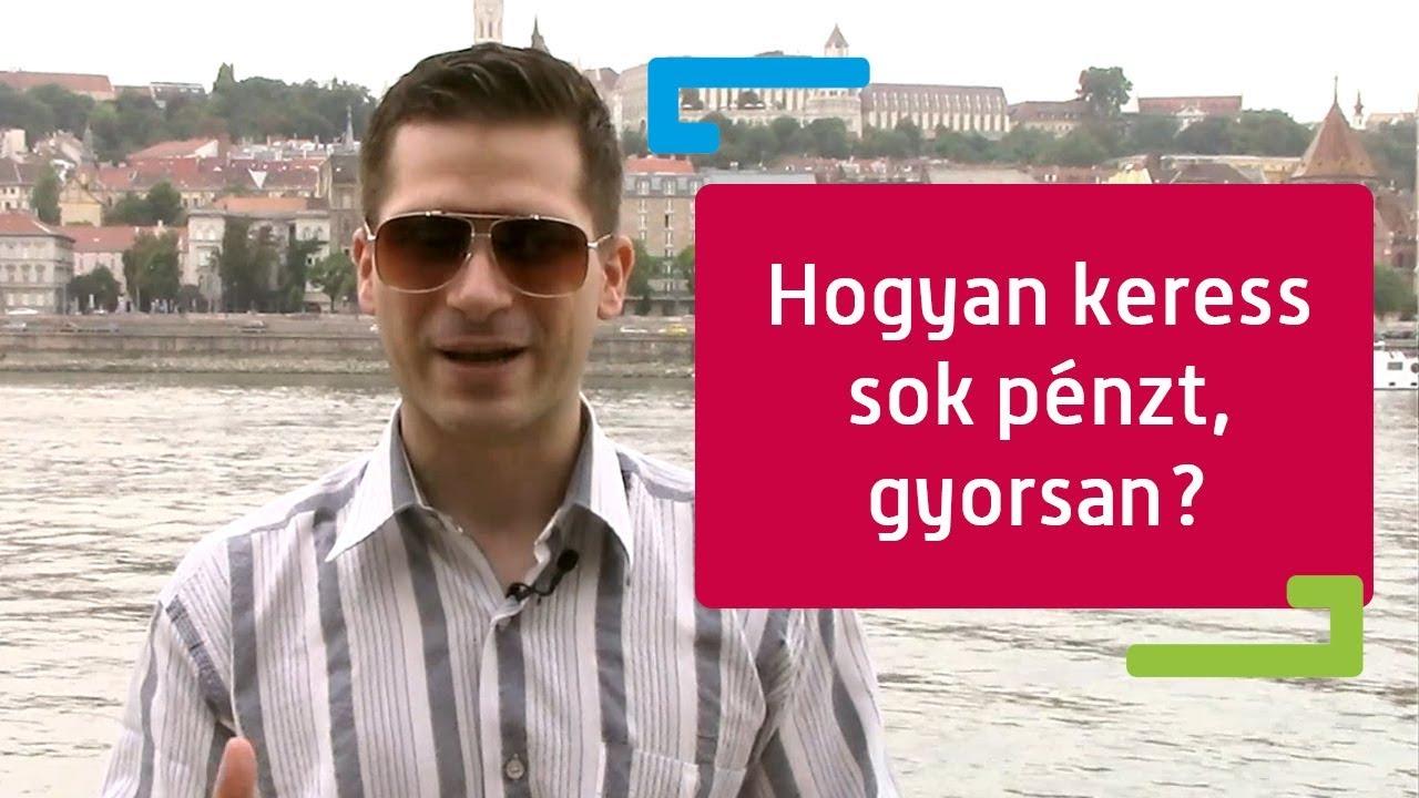 ma pénzt kell keresnie)