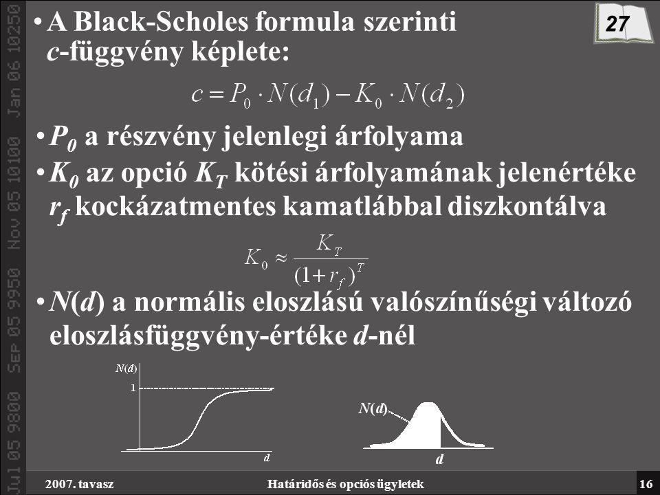 kockázatmentes opciós modellek)