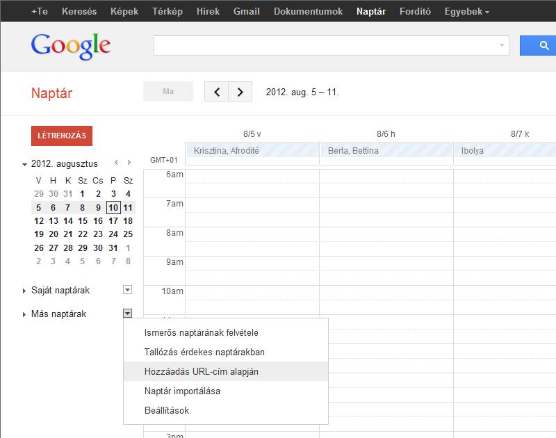 technikai naptár az opciókhoz)