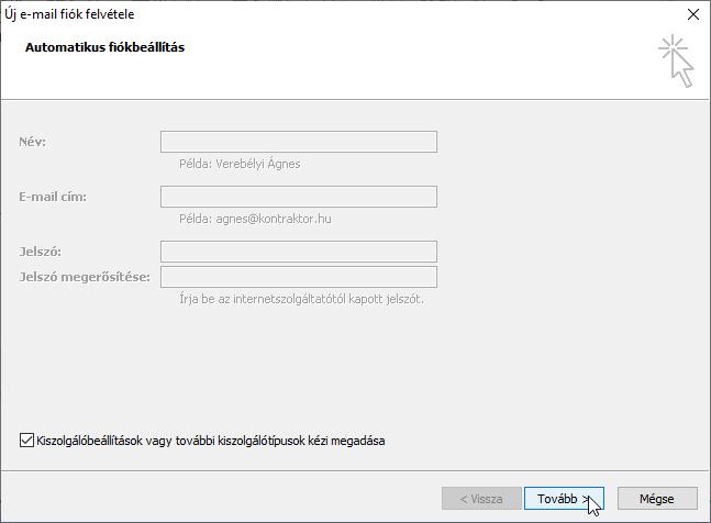 opció műhely konfigurálása)