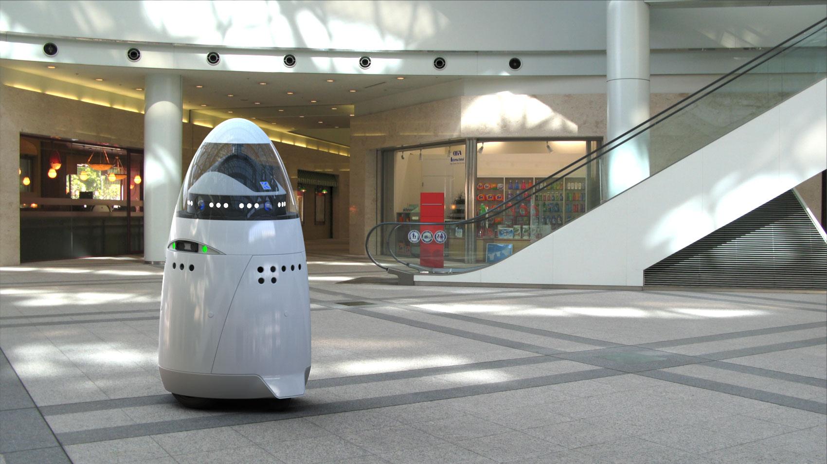 robot a plázában