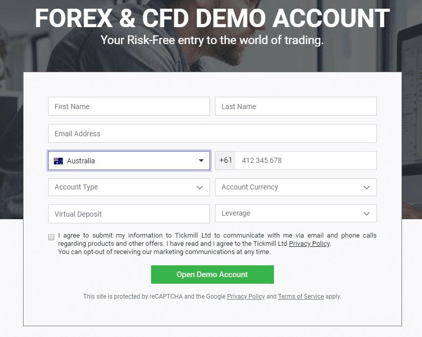 nyissa meg a demo számla bináris opcióit