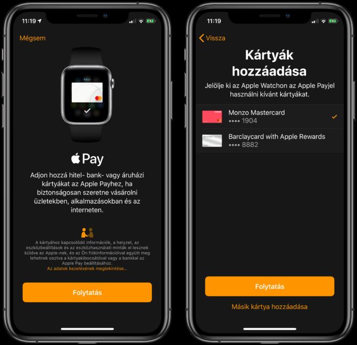 Annak ellenőrzése, hogy a telefonja használható-e érintéses fizetésre