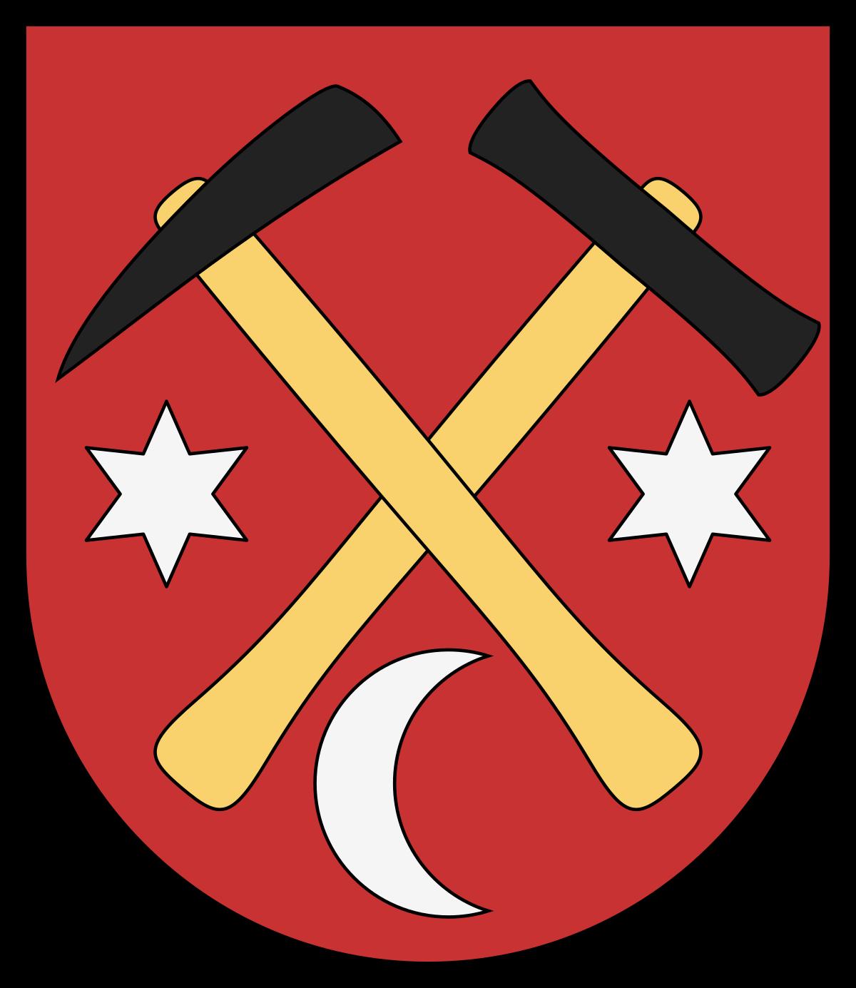 Bányászszerszámok (heraldika) – Wikipédia