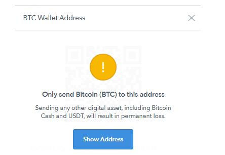 kövesse a bitcoin címet