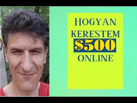 Pénzt kerestem az interneten